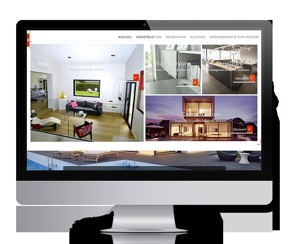 Site internet Vitruve - Entreprise de maçonnerie générale sur l'Ain