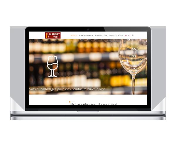 Site internet de Blanchet Viniti