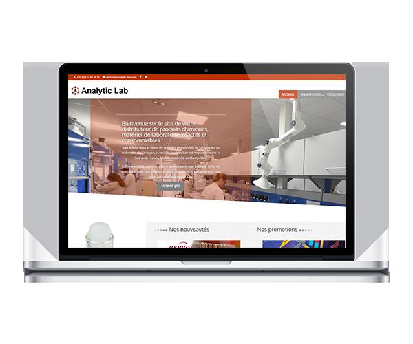 Création site internet distributeur produits chimiques, réactifs et matériels de laboratoire