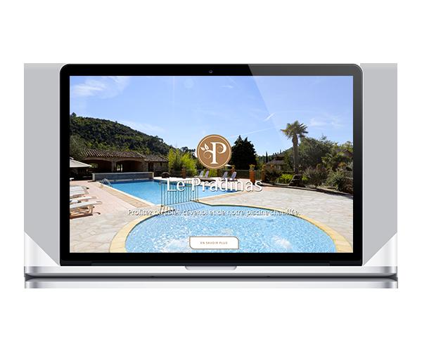 Création du site internet pour l'hôtel restaurant du Pradinas à Anduze