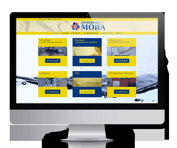 Site internet de l'entreprise Mora, à Gignac dans l'Hérault