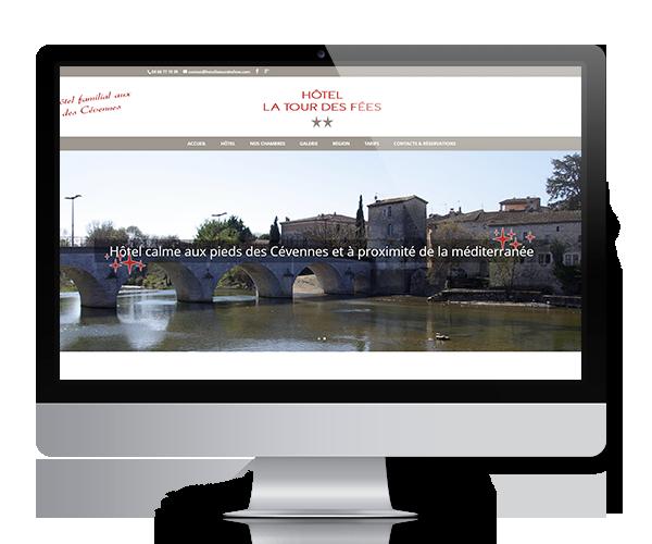 Création du site internet de l'hôtel de la Tour des Fées