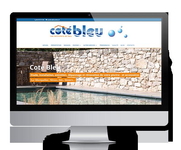Site internet de Coté Bleu à Baillargues-ote_bleu