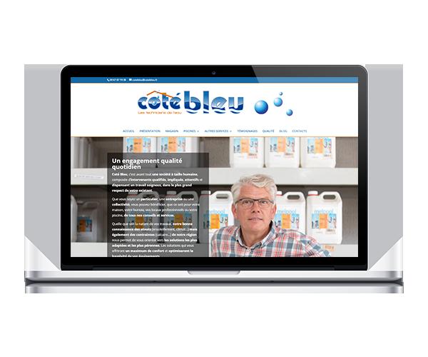 Site internet de Coté Bleu à Baillargues