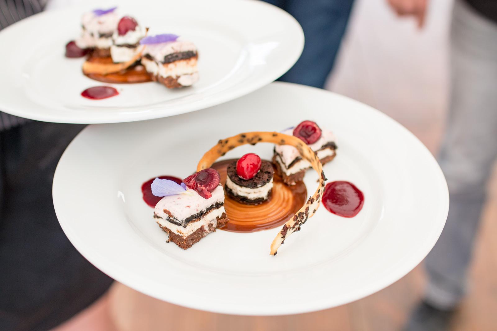 Dessert au chocolat réalisé par le traiteur Christophe Martinez