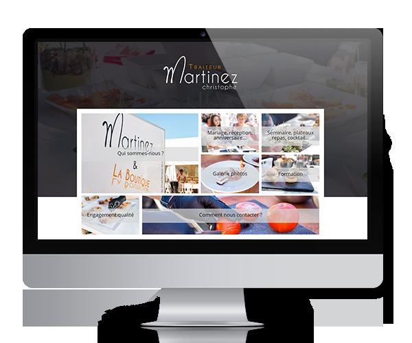 Site internet du traiteur Martinez