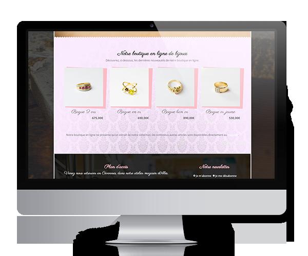 Création de la boutique en ligne de l'atelier de bijouterie Maison Péchin