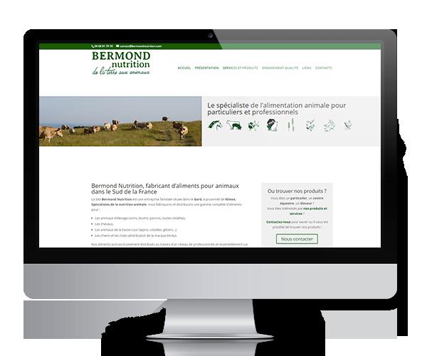 Création du site internet de Bermond Nutrition