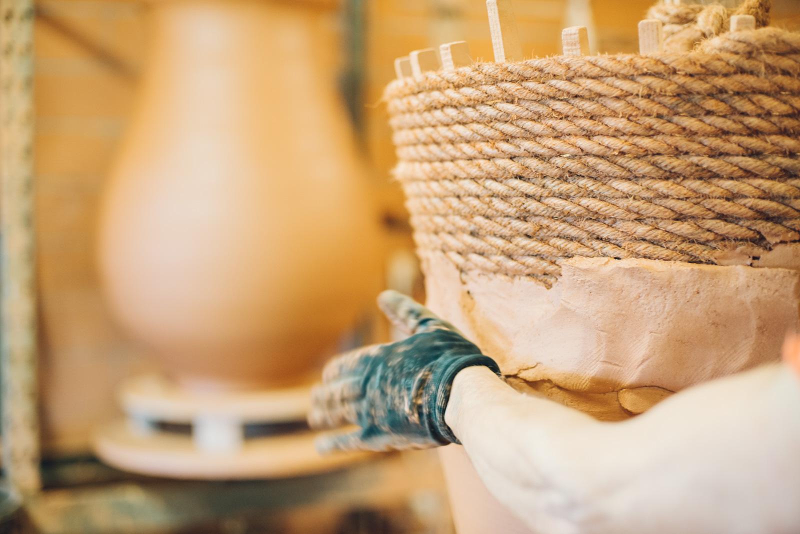 Potier à Anduze, dans le Gard, au cœur des Cévennes