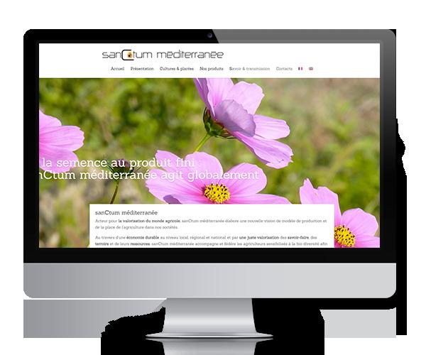 Site internet de sanCtum méditerranée