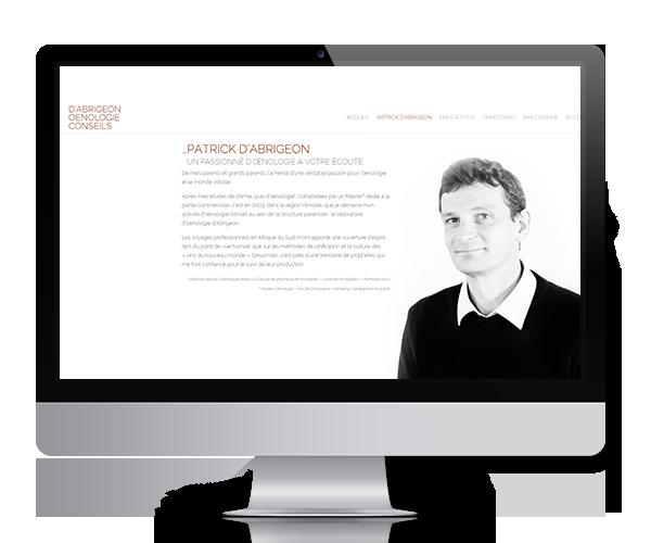Site internet de D'Abrigeon Oenologie