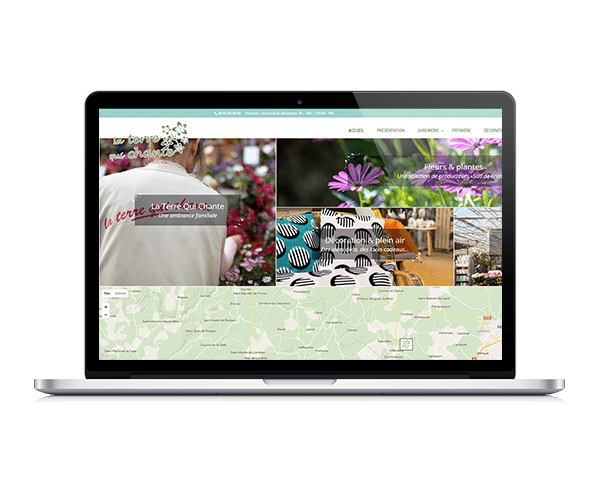 Site internet de la jardinerie La Terre qui chante