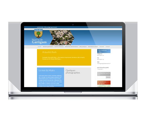 Site internet de la mairie de Garrigues, Hérault