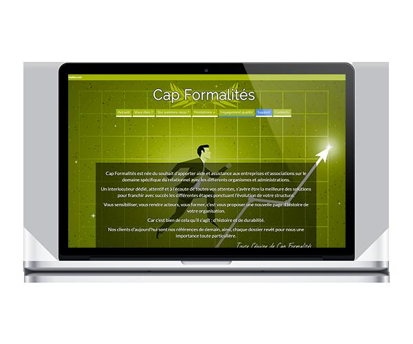 Site internet de Cap Formalités