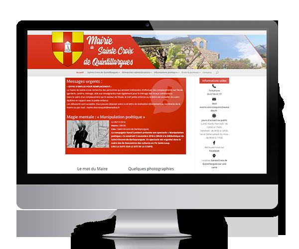Site internet de la mairie de Sainte-Croix de Quintillargues