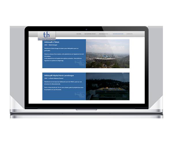 Site internet de TH Composites