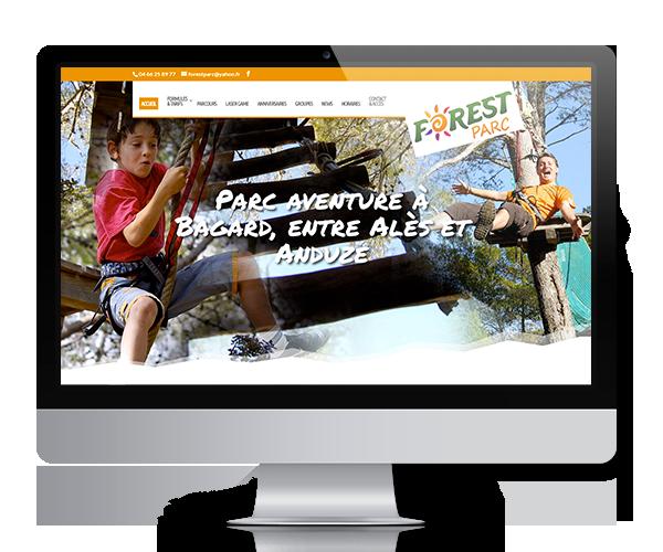 Site internet de Forest Parc, en Cévennes