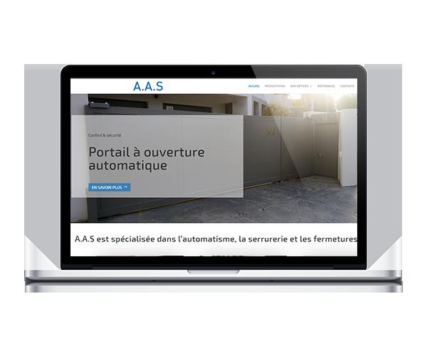 Site internet de la société AAS
