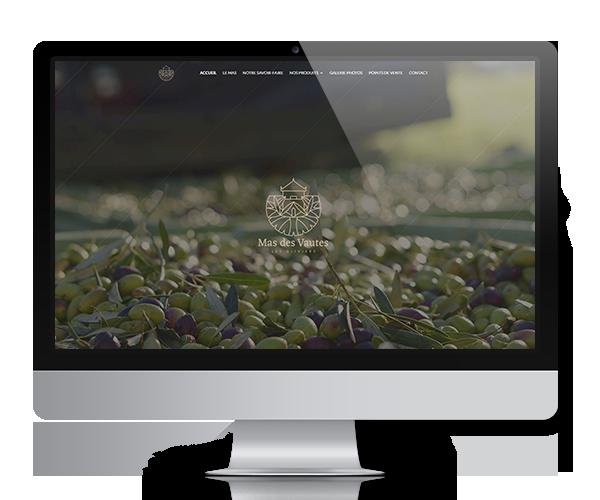 Site internet du Mas des Vautes