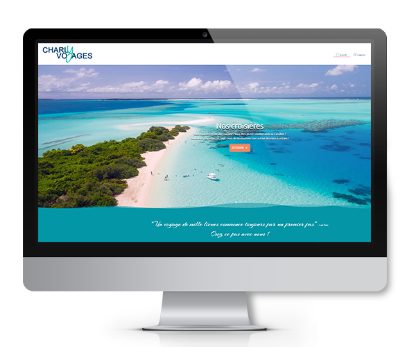 Site internet agence de voyages Charly