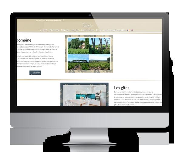 Site internet du Domaine de Pierrefont