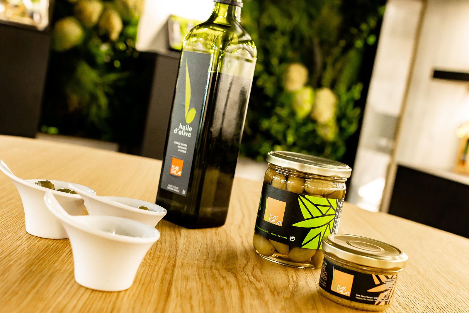 Huile d'olive, olives et tapenade du Moulin du Mas Palat - Hérault