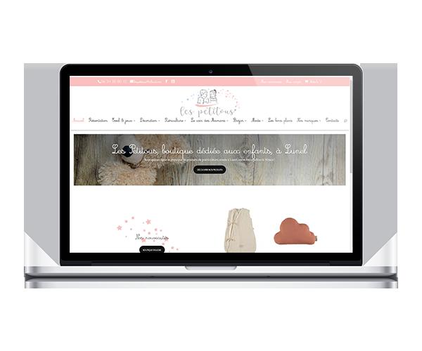 Boutique en ligne de puériculture